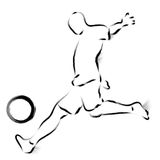He played the shot with consummate skill. Calligraphy Arts Desig Stock Photos