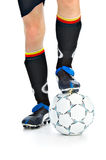 Player with ball Royalty Free Stock Photos