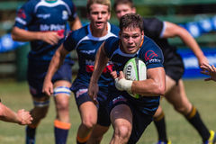 Rugby Schools Ball Running Greys College Stock Images