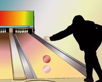 A player at the Bowling Royalty Free Stock Photos