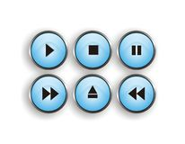 Player button. Cool player buttons isolated with white background Stock Illustration