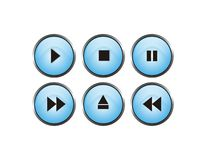 Player button. Cool player buttons isolated with white background Royalty Free Illustration