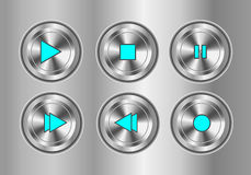 Player Button Set. On  background Royalty Free Stock Photo
