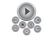Player buttons Royalty Free Stock Photo
