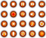 Player buttons. vector illustration