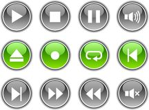Player Buttons. Stock Images