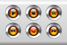 Player buttons stock illustration