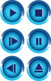 Player buttons Royalty Free Stock Photos