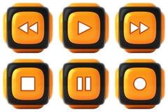 Player buttons Stock Photos