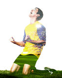 Player is celebrating goal Royalty Free Stock Image
