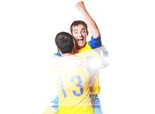 Player celebrating goal Stock Photo