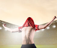 Player celebrating goal Royalty Free Stock Photos