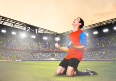 Player celebrating goal Stock Images