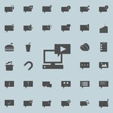 player on the computer icon. Detailed set of Minimalistic icons. Premium quality graphic design sign. One of the collection icon vector illustration