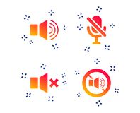 Free Player Control Icons. Sound, Microphone And Mute. Vector Stock Image - 150791411