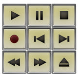 Player controls set Royalty Free Stock Photos