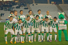Player of Cordoba C.F. in initial aligment Royalty Free Stock Images