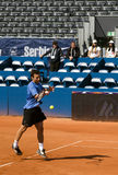 Player Eleskovic return a ball Royalty Free Stock Photography