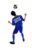 Player of Euro 2016 heading a ball Royalty Free Stock Photography