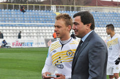 Player of FC Metallurg Stock Photo