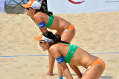 Player of female beach volleyball Royalty Free Stock Image