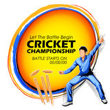Player fielding in cricket championship sports. Illustration of player fielding in cricket championship sports Royalty Free Stock Photo