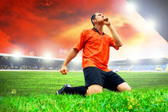 Player after goal Stock Images