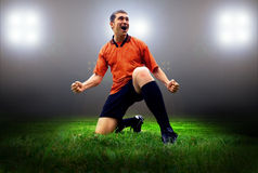 Player after goal Royalty Free Stock Photography