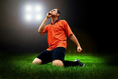 Player after goal Stock Photography
