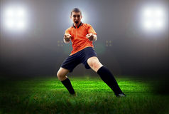 Player after goal Royalty Free Stock Images