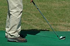 Player of golf Royalty Free Stock Photo