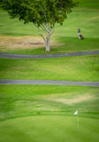 Player on golf course Royalty Free Stock Photo