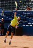 Player Granollers Pujol served a ball Stock Image
