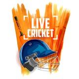 Player helmet on cricket sports background Royalty Free Stock Photos