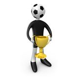 Player holding the cup Royalty Free Stock Photography