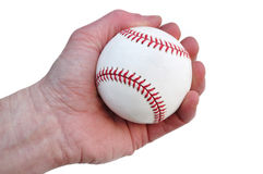 Player Holding a New Baseball Royalty Free Stock Photography