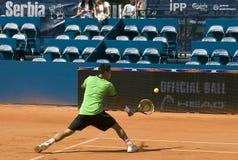 Player Hsun Lu return a ball-1 Royalty Free Stock Photo