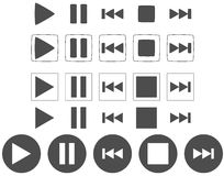 Player icons. Set of player icons, such as play, pause and other royalty free illustration