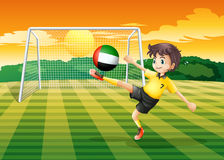A player kicking ball from United Arab Emirates Stock Photos