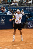 Player Lopez return a ball-2 Stock Image
