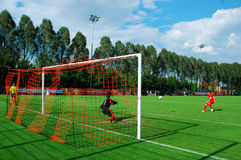 Player make penalty Royalty Free Stock Images