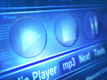 Player. Media player and various links Royalty Free Stock Image