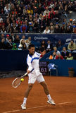 Player Novak Djokovic return a ball-2 Stock Images