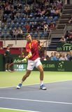 Player Pablo CARRENO BUSTA return a ball Stock Images