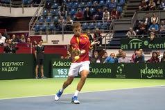 Player Pablo CARRENO BUSTA return a ball-1 Stock Photos