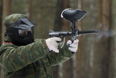 Player in paintball. Royalty Free Stock Images