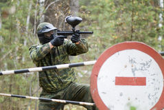 Player in paintball Royalty Free Stock Image