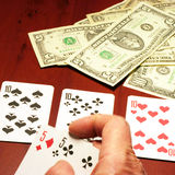 Player in poker Stock Photos