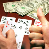 Player in poker Stock Photo