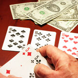 Player in poker Royalty Free Stock Photo